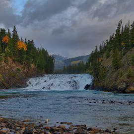 Bow Falls In Late Day Light by Stephen Vecchiotti