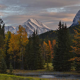 Bow River Autumn Sunset by Stephen Vecchiotti