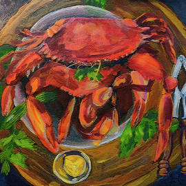 Bowl of Crabs by Janal Koenig
