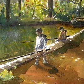 Boys Fishing by Karen Harding