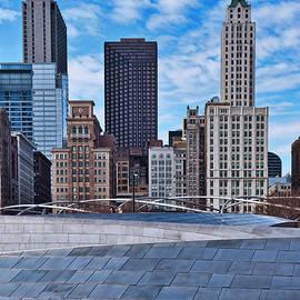 Bp Bridge and Chicago Skyline by Steven Ralser