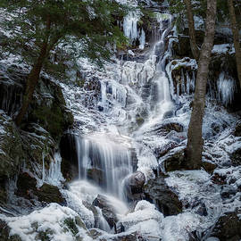 Brace Mountain Icy Falls Square by Bill Wakeley