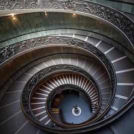 Bramante Staircase in Vatican by Artur Bogacki