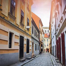Bratislava Slovakia Cobblestone Streets  by Carol Japp