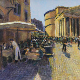 Breakfast at the Pantheon by David Zimmerman