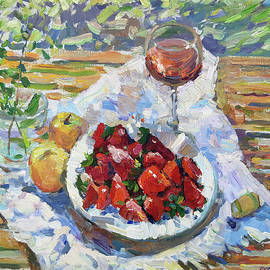 Breakfast with strawberries by Juliya Zhukova