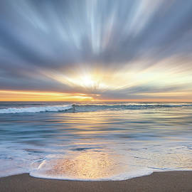 Breaking Waves at Dawn Dreamscape by Debra and Dave Vanderlaan