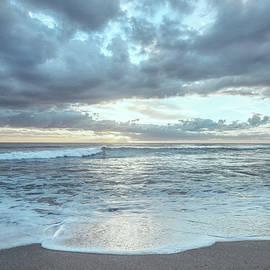 Breaking Waves at Dawn in Beachhouse Hues by Debra and Dave Vanderlaan