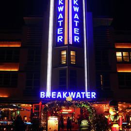 Breakwater Hotel - Art Deco District - Miami Beach  by Doc Braham