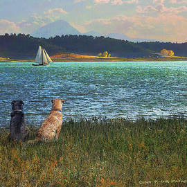 Breezy Sailing On Mcphee by R christopher Vest