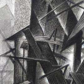 Bricoleur of Space Series - BW A by Ramesh Nair