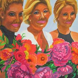 Bride And Bridesmaids by Kathy Braud