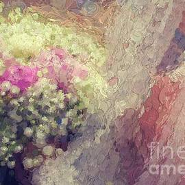 Bride with bouquet abstract by Patricia Hofmeester