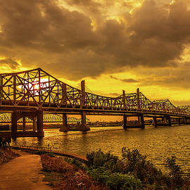 Bridge In Golden Light by Steven Ainsworth