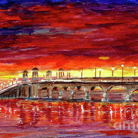 Bridge of Lions at Sunset - St. Augustine, Florida by J Wimberley