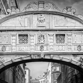 Bridge of Sighs Venice Italy Black and White  by Carol Japp