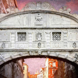 Bridge of Sighs Venice Italy Painterly  by Carol Japp
