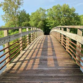 Bridge over the Huron River Ann Arbor MI 091521 by Mary Bedy