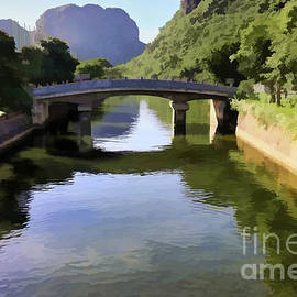 Bridge Tam Coc Nam Dinh Provence Vietnam  by Chuck Kuhn