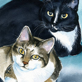 Briggs and Stratton - Cat Painting by Dora Hathazi Mendes