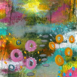 Bright Curiosity 1 Abstract Landscape by Itaya Lightbourne