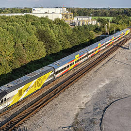 Brightline Commuter Trainset as it heads south as CSX W989 at Hopkinsville KY by Jim Pearson