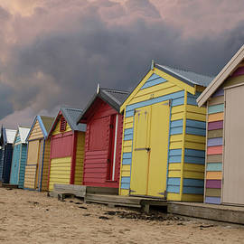 Brighton Bathing Boxes by Marylou Badeaux