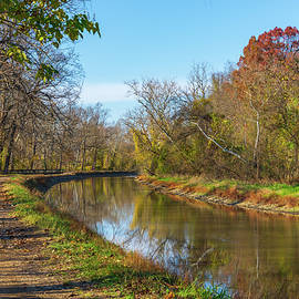 Brilliant Autumn on the Canal by Liz Albro