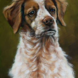 Brittany Spaniel by Julie Dalton Gourgues