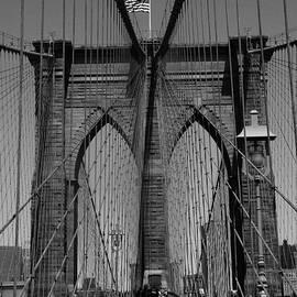 Brooklyn Bridge B and W by Richard Krebs