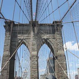 Brooklyn Bridge Leading Into Nyc by Barbra Telfer