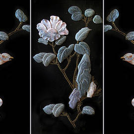 Asian Stone Carving Triptych by Jessica Jenney