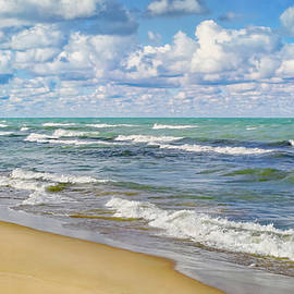 Bubbles Over Lake Michigan by Kathi Mirto