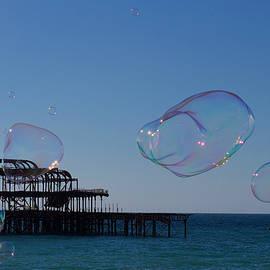 Bubbles, West Pier, Brighton, England. by Joe Vella