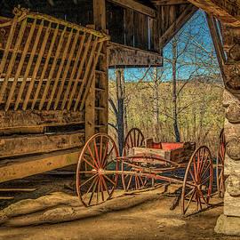 Buckboard Wagon by Marcy Wielfaert