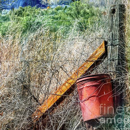 Bucket And Post by Jean OKeeffe Macro Abundance Art