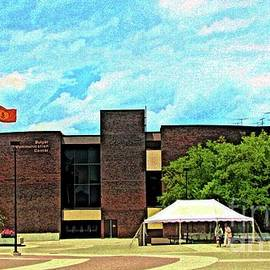 Buffalo State College Bulger Communication Center Color Sketch Effect by Rose Santuci-Sofranko