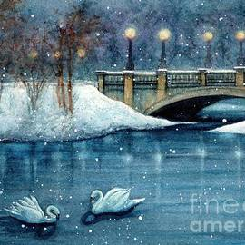 Buhl Park Winter Swan Duet Hermitage by Janine Riley
