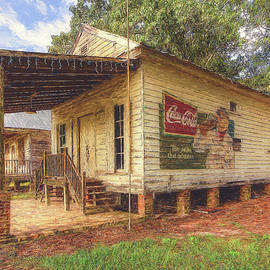 Building #4 of the Lone Star BBQ and Mercantile Painted by Steve Rich