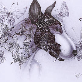 Bull Terrier by Valeriia Zm