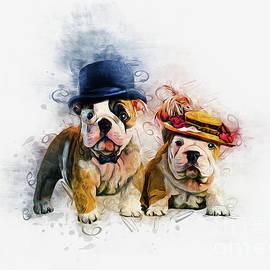 Bulldog Mr and Mrs by Ian Mitchell