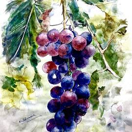 Bunch of grapes by Khalid Saeed