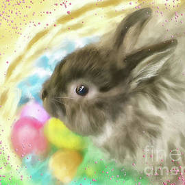 Bunny In A Basket by Lois Bryan