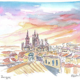 Burgos Spain Historical City Center and Cathedral by M Bleichner