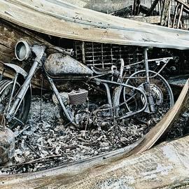 Burnt BSA Bantam Motorbike 2 by Steven Ralser