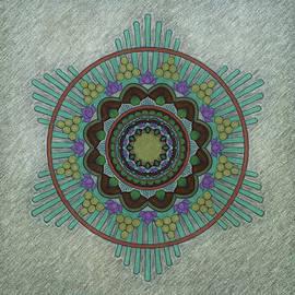 Bursting Lotus Mandala by Leslie Montgomery