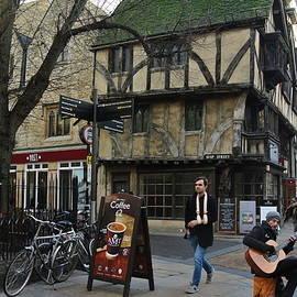 Busker In Oxford City Centre UK by Lynne Iddon