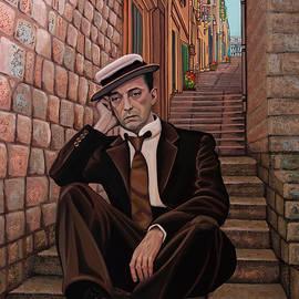Buster Keaton Painting 2 by Paul Meijering