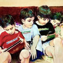Busy kids by Khalid Saeed
