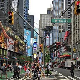 Busy New York City Crossroads by Lyuba Filatova